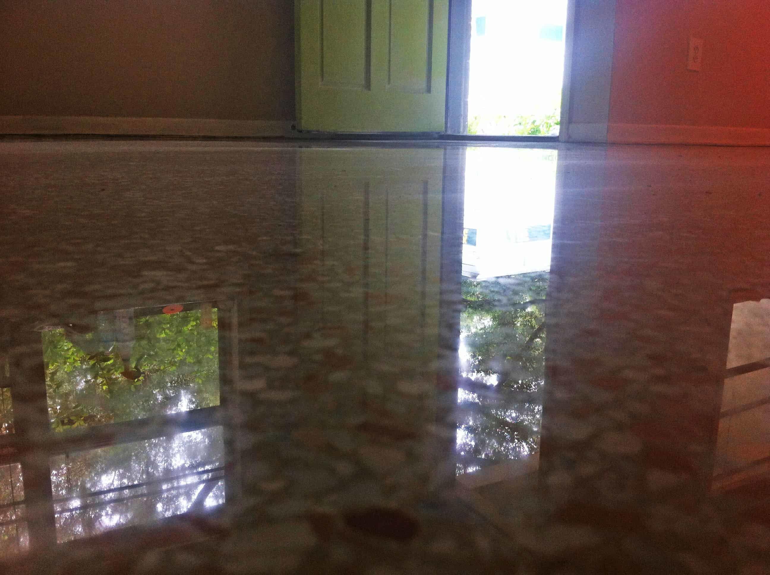 Dry Polished terrazzo floor