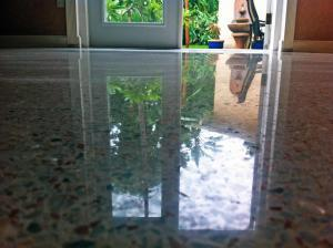 floor diamond polished by SafeDry Terrazzo Restoration
