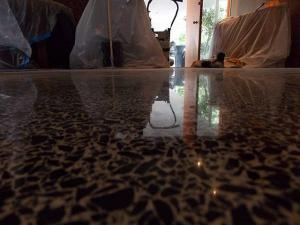This terrazzo has been restored by SafeDry in Siesta Key, Florida.