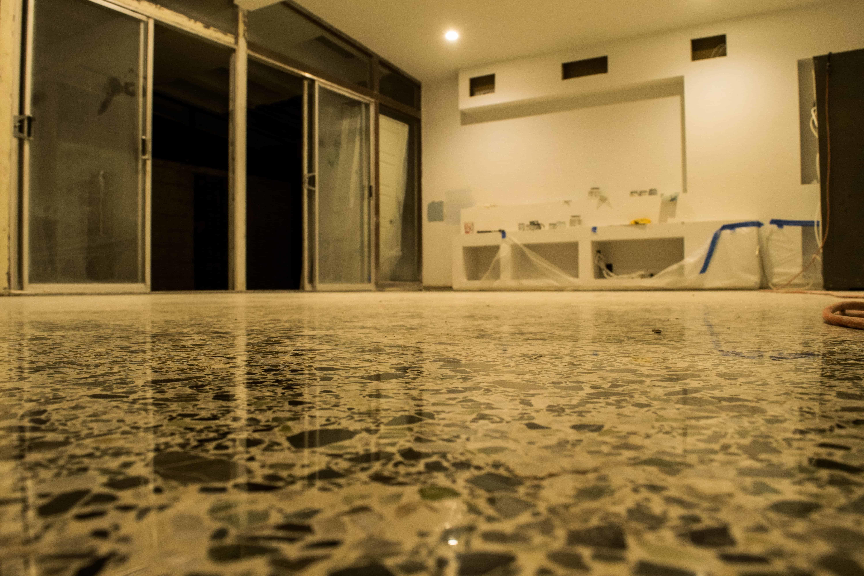 Antique terrazzo floor restoration by SafeDry