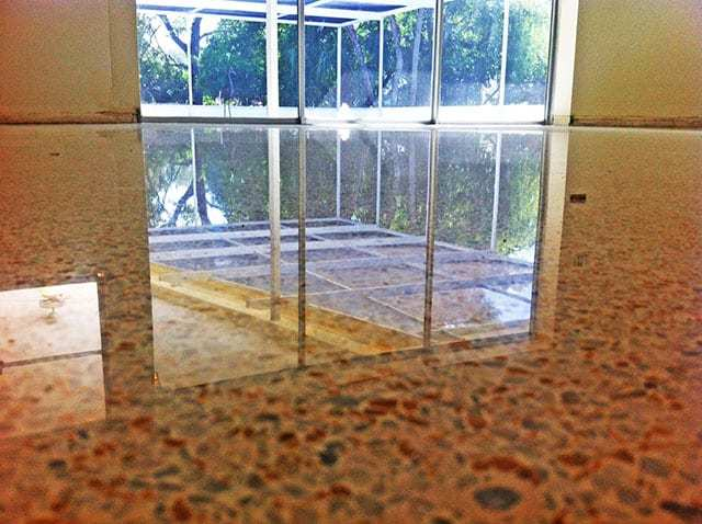 Diamond polshed terrazzo floor