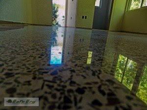 Diamond polished terrazzo