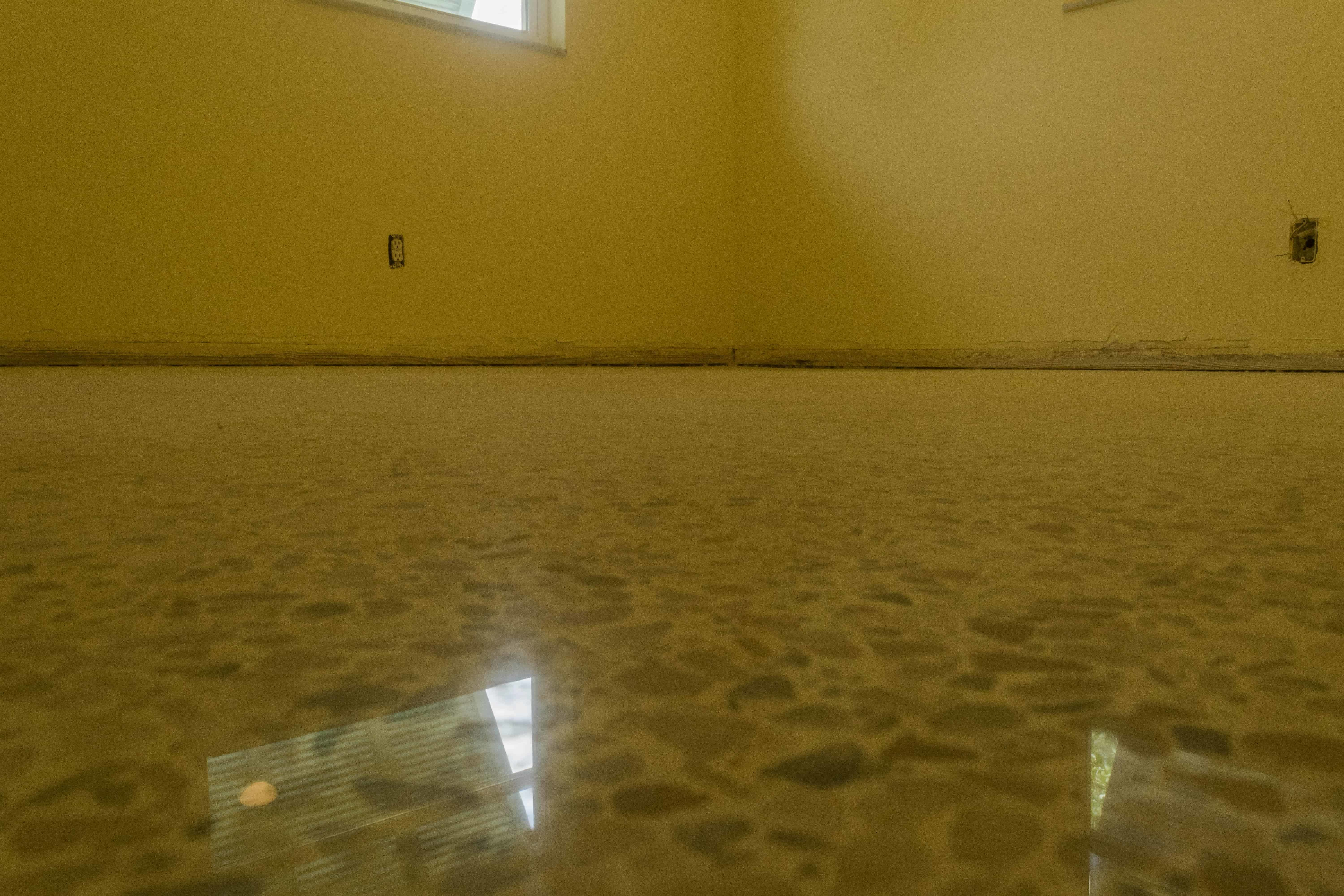 antique terrazzo after safedry in florida