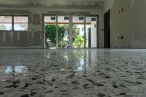 Dry polished and sealed Florida terrazzo