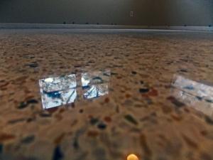 Terrazzo restoration Englewood Florida done with dry diamonds