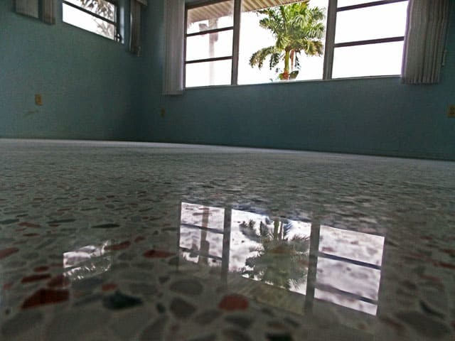 Fort Myers Terrazzo restoration done with a diamond restoration