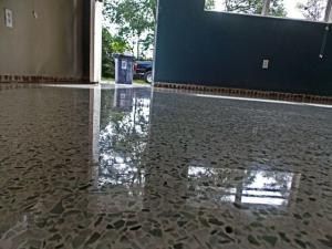 terrazzo restoraiton done in Sarasota with diamond polishing no topical coating