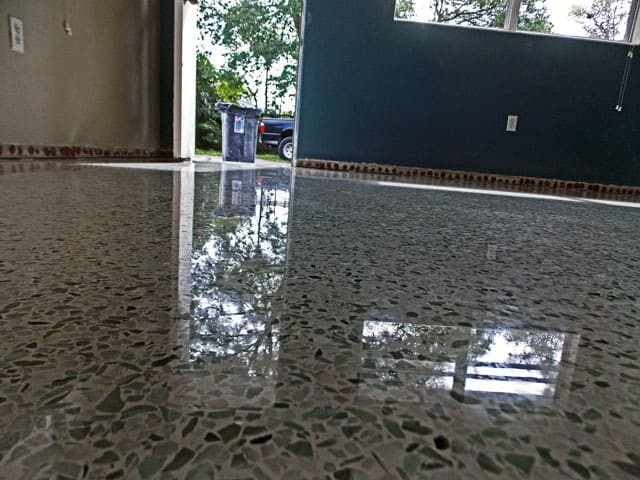 terrazzo restoraiton done in Sarasota with diamond polishing no topical coating