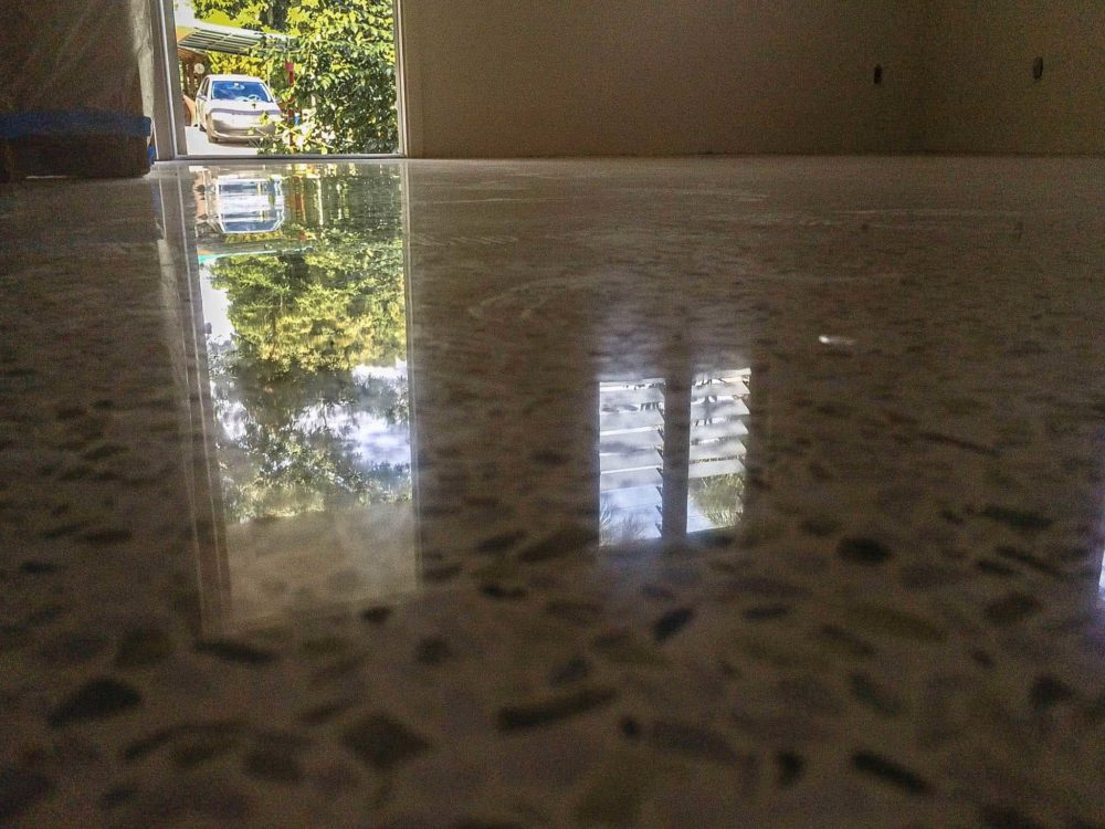 Terrazzo polished by Safedry in Florida