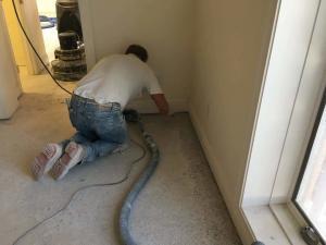 Terrazzo floor edge restoration