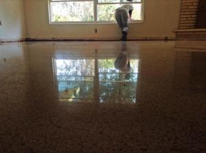 Terrazzo floor restored in North Port Florida