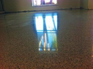 Terrazzo floor restoration in Cape Coral by SafeDry