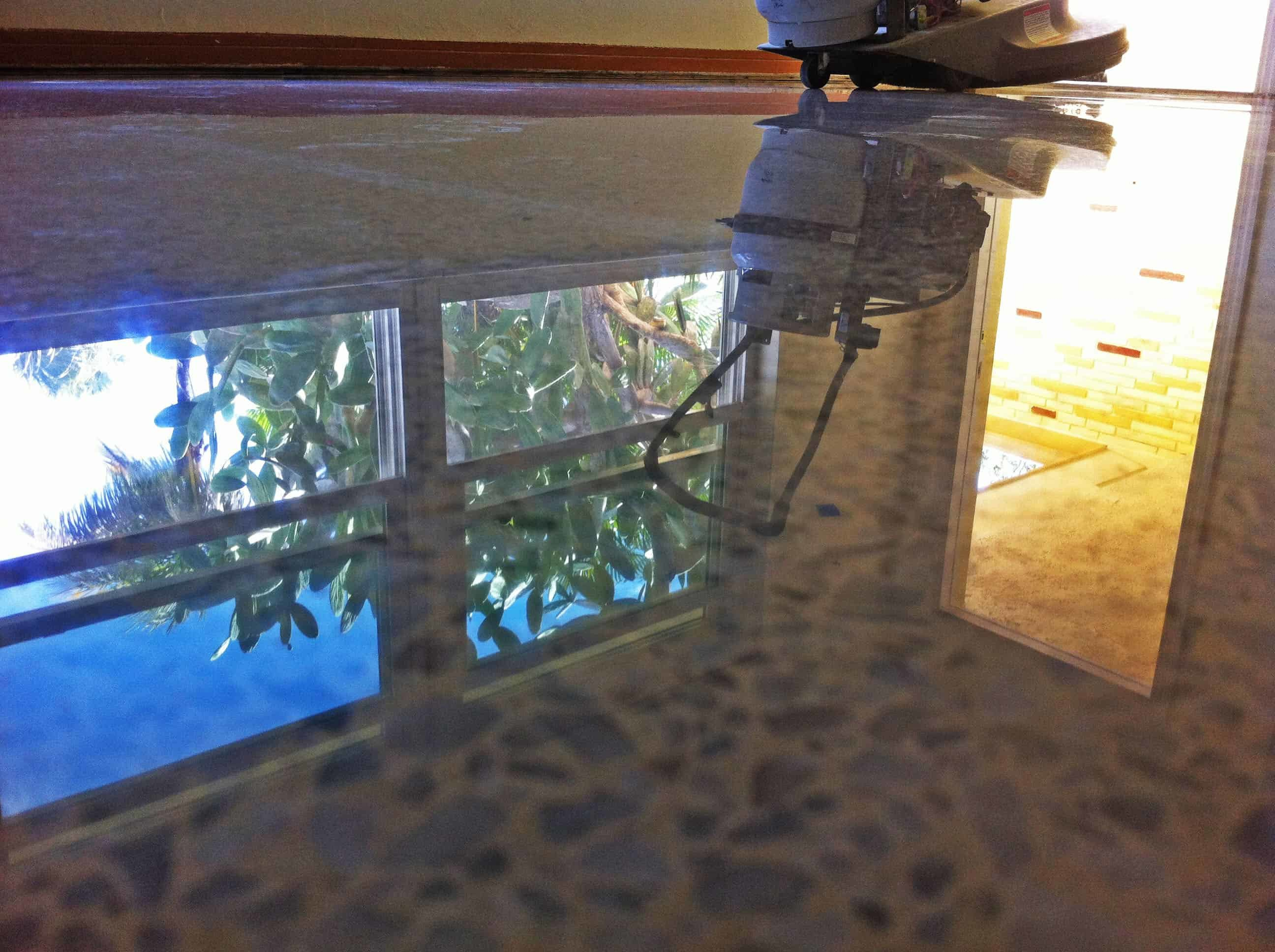 This terrazzo floor was restored in Fort Myers
