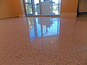 Reflection of restored terrazzo in Marco Island.