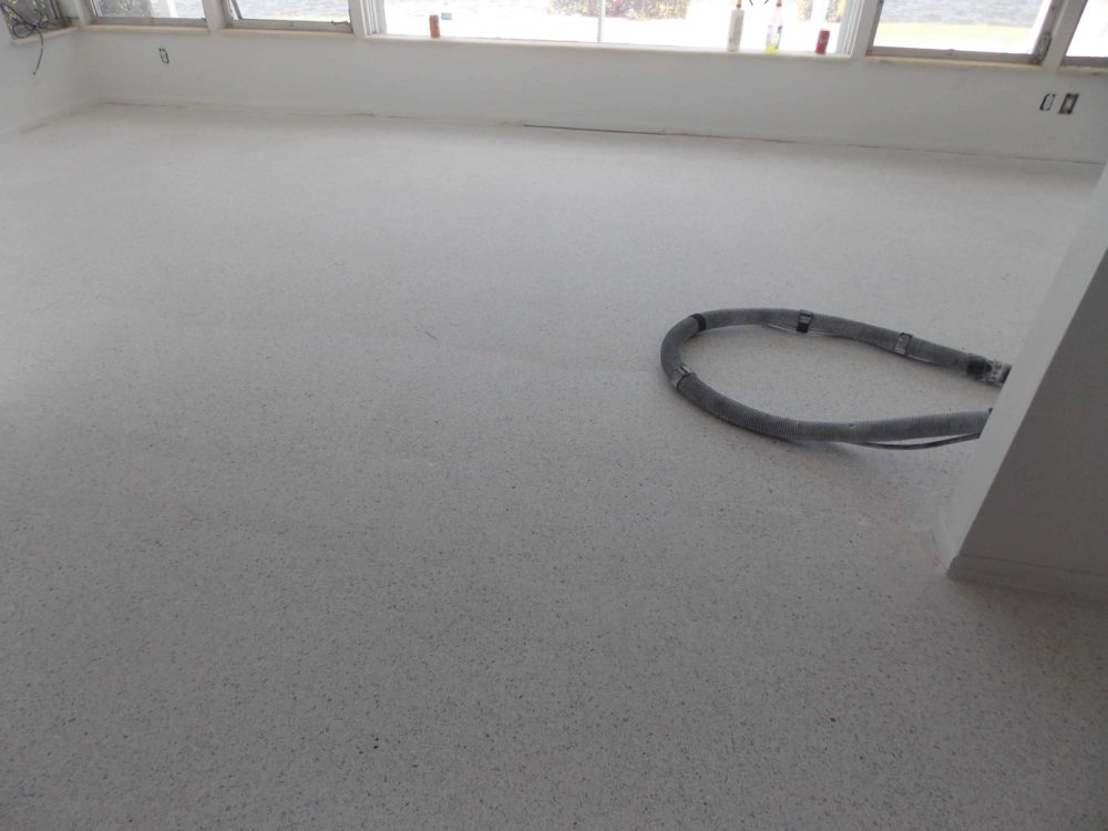 Terrazzo Floor During restoration