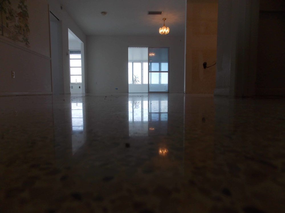 Terrazzo Restoration Sun City Ceny dry polished with no water