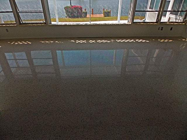 Diamond Polished terrazzo in Sun City Center